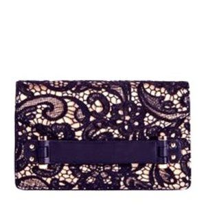 GRAND GAMBLE JustFab Clutch Lace Detail